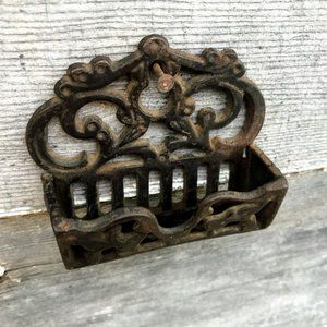 Antique Cast Iron Small Match Safe Wall hanging